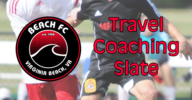 Beach FC Announces 2016-2017 Travel Coaching Slate