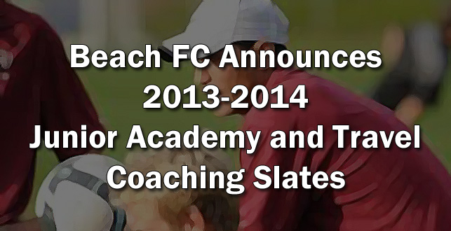 2013-2014 Beach FC Coaching Slate